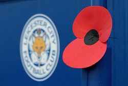 A poppy outside the Kingpower Stadium - Mandatory by-line: Robbie Stephenson/JMP - 06/11/2016 - FOOTBALL - King Power Stadium - Leicester, England - Leicester City v West Bromwich Albion - Premier League