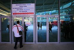 Entrance in the Pool at 3rd day of Heats of LEN European Short Course Swimming Championships Rijeka 2008, on December 13, 2008,  in Kantrida pool, Rijeka, Croatia