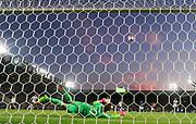 KRAKOW, POLEN 2017-06-24<br /> Julian Pollersbeck r&auml;ddar  under UEFA U21 matchen mellan Italien och Tyskland p&aring; Krakow Stadium den 24 juni, 2017 i Krakow, Polen<br /> Foto: Nils Petter Nilsson/Ombrello<br /> ***BETALBILD***