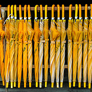 Yellow umbrellas, Takayama, Japan (May 2004)