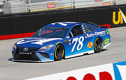 April 13, 2018 - Bristol, TN, U.S. - BRISTOL, TN - APRIL 13:  #78: Martin Truex Jr., Furniture Row Racing, Toyota Camry Auto-Owners Insurance during practice for the 58th annual Food City 500 on April 13, 2018 at Bristol Motor Speedway in Bristol, Tennessee (Photo by Jeff Robinson/Icon Sportswire) (Credit Image: © Jeff Robinson/Icon SMI via ZUMA Press)
