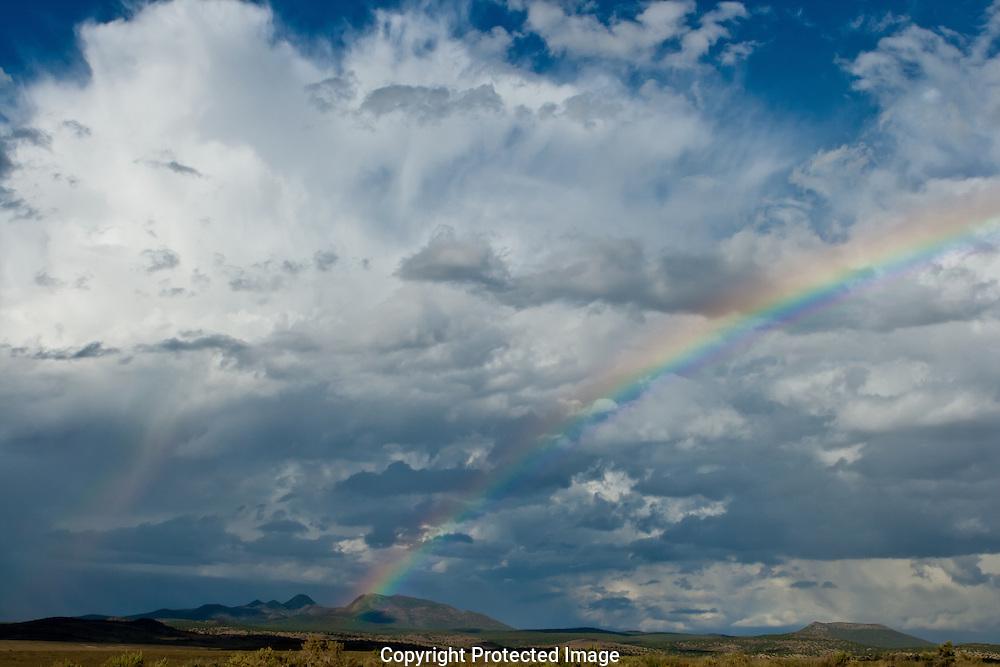 Thunder  storm and double rainbow near rte.66.