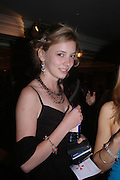 Charlotte Dinkel. White Knights Ball, Grosvenor House Hotel 7 January 2005. ONE TIME USE ONLY - DO NOT ARCHIVE  © Copyright Photograph by Dafydd Jones 66 Stockwell Park Rd. London SW9 0DA Tel 020 7733 0108 www.dafjones.com
