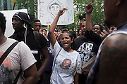 People rally in Union Square in reaction to the acquittal of George Zimmerman in the shooting death of Trayvon Martin in New York, NY, on Sunday, July 14, 2013. <br /> <br /> Photograph by Andrew Hinderaker.
