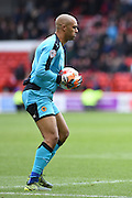 Wolverhampton Wanderers goalkeeper Carl Ikeme (1) during the Sky Bet Championship match between Nottingham Forest and Wolverhampton Wanderers at the City Ground, Nottingham, England on 30 April 2016. Photo by Jon Hobley.