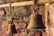 Bells inside the St. Neakutoleab Monastery, Lalibela, Ethiopia.