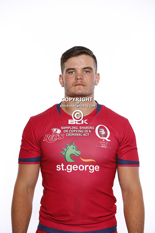 BRISBANE, AUSTRALIA - JANUARY 18:  Reece Hewat poses during the Queensland Reds Super Rugby headshots session on January 18, 2017 in Brisbane, Australia.  (Photo by Jason O'Brien/Getty Images)