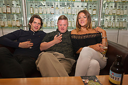 Pictured: Will Rastall; Stephen Brandon and Shana Swash<br /> <br /> Some of the cast and those behind the scenes of My Feral Heart gathered in the Scotch Whisky Society in Edinburgh to relax ahead of the UK Premier of their film at the Edinburgh International Film Festival. Directed by Jane Gull, My Feral Heart stars Stephen Brandon in his debut as Luke, Will Rastall, Shana Swash, Eileen Polliock, Suzanna Hamilton and Pixie Le Knot.<br /> <br /> When Luke, an independent and sensitive young man with Down's syndrome is forced to live in a care home after his elderly mother dies, he struggles to settle. Frustrated by having his wings clipped by unfamiliar rules; totally unimpressed by his new housemates and grieving for his Mum - his disappointment soon turns to wonder when Luke discovers a way out and begins to explore the surrounding countryside. When he is caught sneaking out by Pete, a troubled youth who tends the gardens at the Home, they strike up an unlikely rapport: Pete covers for Luke when he sneaks out and in return Luke helps Pete clear the garden. On an illicit excursion to the adjoining field Luke discovers a young injured girl in desperate need of his help.<br /> <br /> <br /> Ger Harley | EEm 17 June  2016