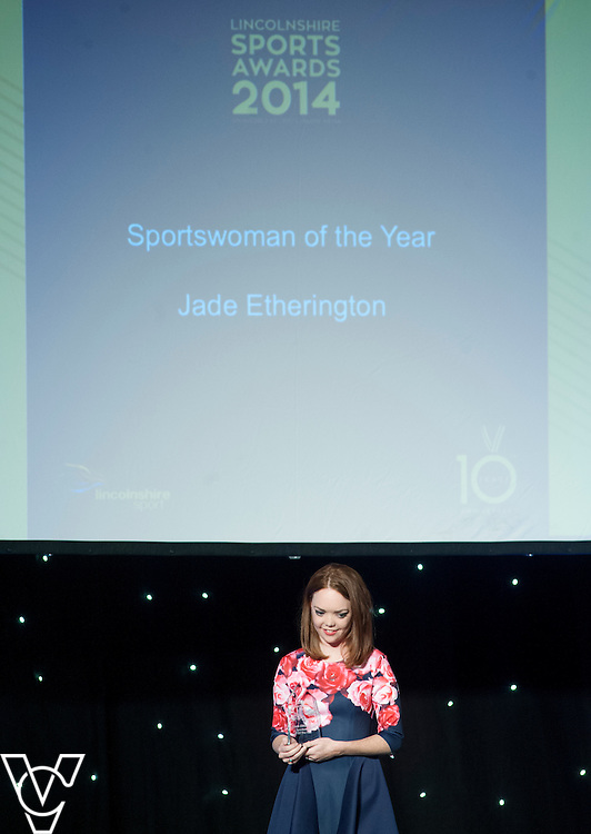 Lincolnshire Sport Awards 2014.<br /> <br /> Sportswoman of the Year award<br /> Sponsored by Belvoir Lettings (Lincoln)<br /> Winner: Jade Etherinton<br /> Runners-up: Emma Bristow, Martha Harris<br /> <br /> Picture: Chris Vaughan/Chris Vaughan Photography for Lincolnshire Sport<br /> Date: November 6, 2014