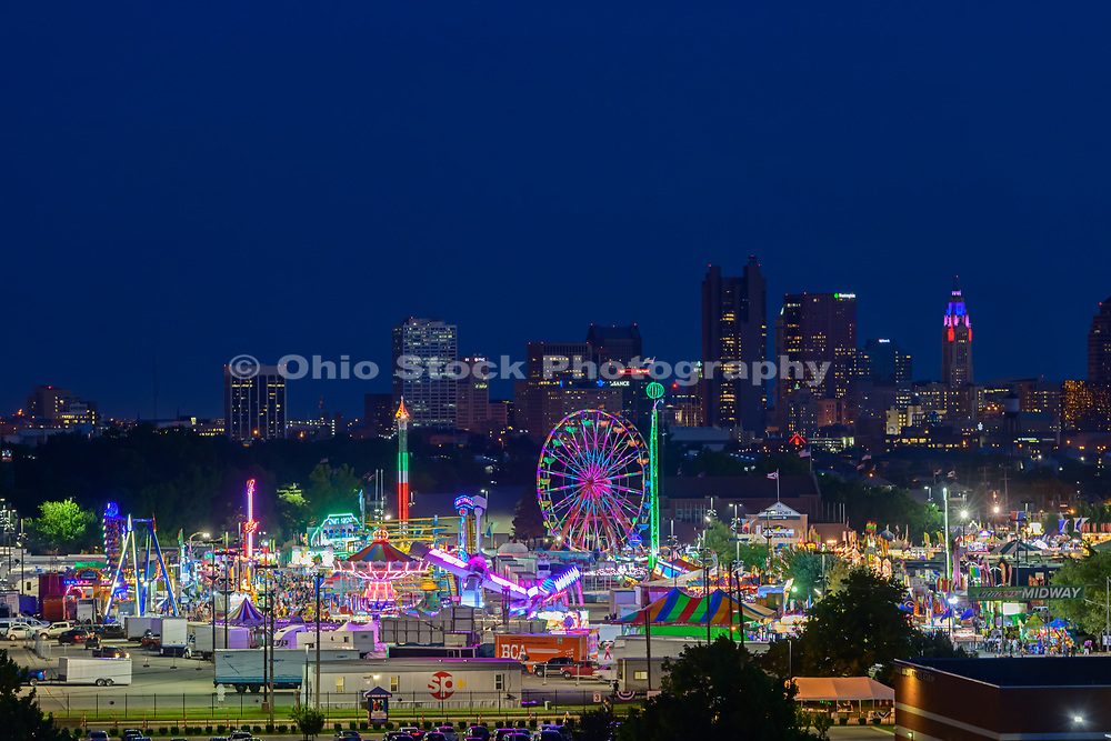 Columbus skyline with Ohio State Fair in the foreground. Columbus skyline with Ohio State Fair in the foreground.
