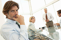 Businessman in conference meeting  portrait