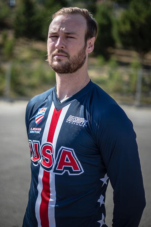 Men Elite #64 (LONG Nicholas) USA at the 2018 UCI BMX World Championships in Baku, Azerbaijan.