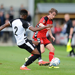 TELFORD COPYRIGHT MIKE SHERIDAN 8/9/2018 - James McQuilkin of AFC Telford during the Vanarama Conference North fixture between Darlington FC and AFC Telford United.