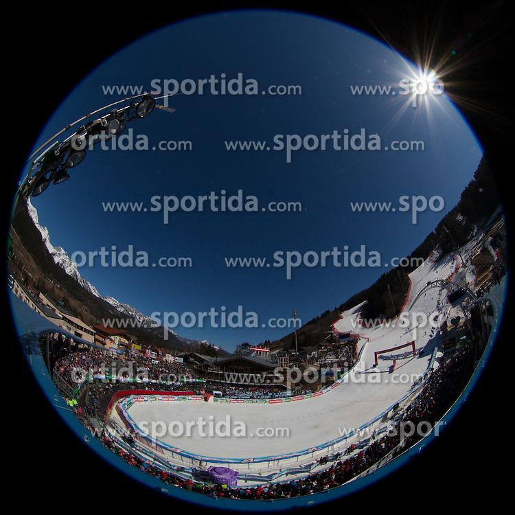 16.03.2012, Planai, Schladming, AUT, FIS Weltcup Ski Alpin, Teambewerb, im Bild übersicht Zielstadion // overview Finisharea Planaistadion during Nation Team Event of FIS Ski Alpine World Cup at 'Planai' course in Schladming, Austria on 2012/03/16. EXPA Pictures © 2012, PhotoCredit: EXPA/ Johann Groder