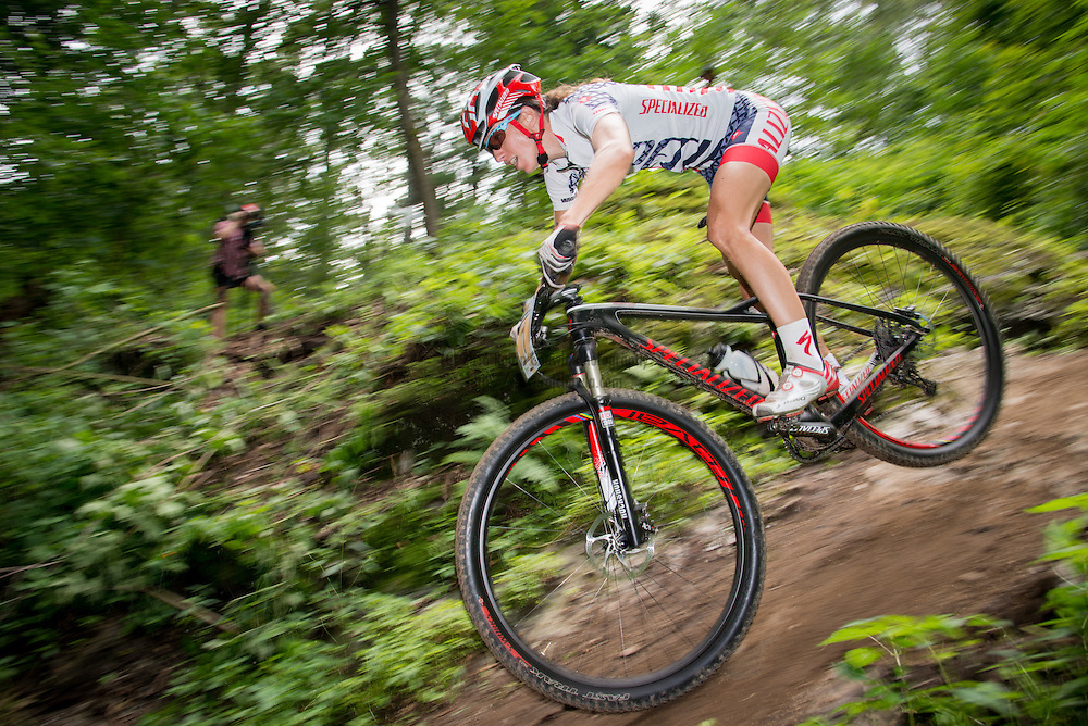 Lea Davison, Specialized. The Catamount Classic Pro XCT Race, Williston, Vermont. All Photographs © 2013 Rajan Chawla Photography. ALL RIGHTS RESERVED. http://www.rajchawla.com.