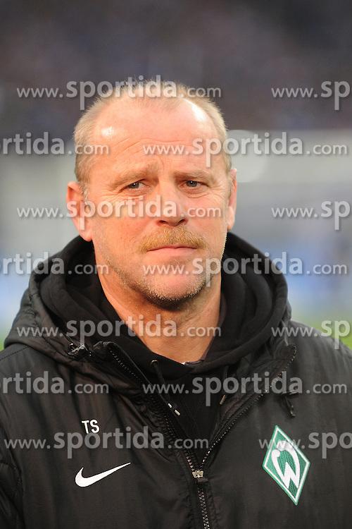 10.11.2012, Veltins Arena, Gelsenkirchen, GER, 1. FBL, Schalke 04 vs SV Werder Bremen, 11. Runde, im Bild Trainer Thomas Schaaf ( SV Werder Bremen/ Portrait ). 10.11.2012, 1. Liga, 11. Spieltag, Gelsenkirchen, Nutzungshinweis: EIBNER-PRESSEFOTO Tel: 0172 837 4655. EXPA Pictures © 2012, PhotoCredit: EXPA/ Eibner/ Thomas Thienel..***** ATTENTION - OUT OF GER *****
