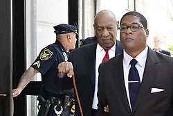 April 26, 2018 - Norristown, Pennsylvania, U.S. - Bill Cosby departs on bail after being found guilty on all three accounts of sexual assault, at Montgomery County Court House, in Norristown, PA, USA, on April 26, 2018. After the first trial last year resulted in a hung jury actor and entertainer Bill Cosby is found guilty on three counts of sexual assault. (Credit Image: © Bastiaan Slabbers/NurPhoto via ZUMA Press)