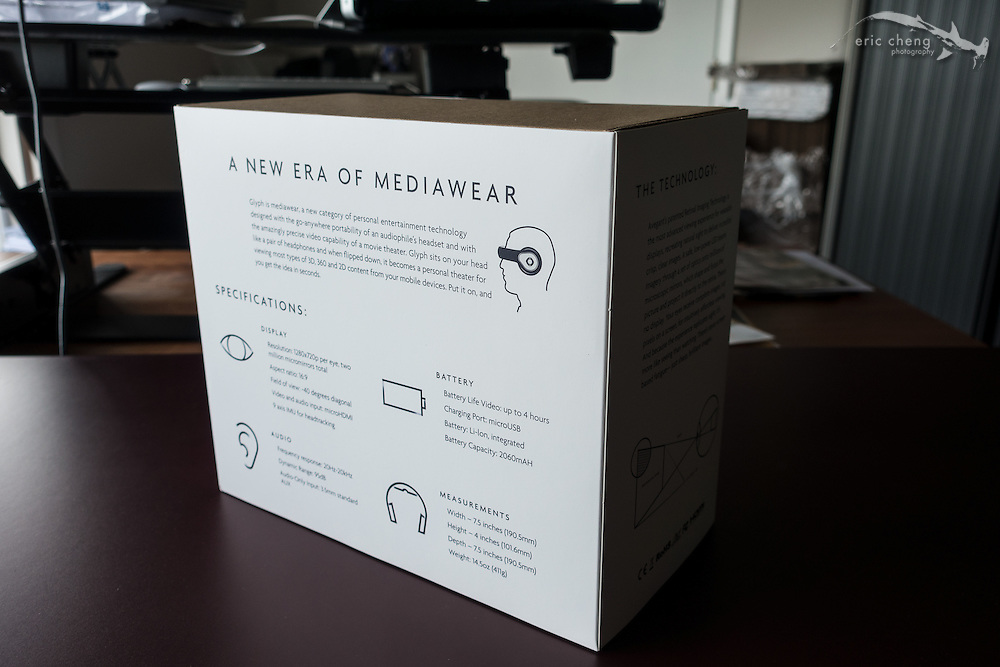 Avegant Glyph Founder's Edition retail box