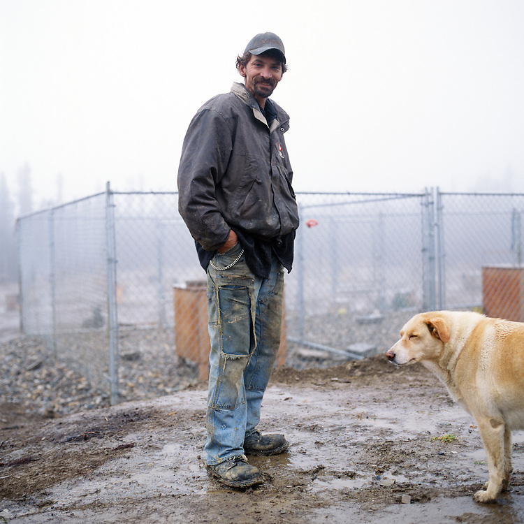 FAIRBANKS, ALASKA - 2009: Iditarod champion Lance Mackey at his home and kennel.