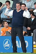 A well pleased Martin Allen his team won 3-1 during the Sky Bet League 2 match between Barnet and Dagenham and Redbridge at Hive Stadium, London, England on 26 September 2015. Photo by Ian Lyall.