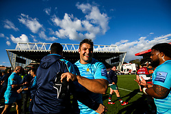 Gareth Milasinovich of Worcester Warriors celebrates victory over Leicester Tigers - Mandatory by-line: Robbie Stephenson/JMP - 23/09/2018 - RUGBY - Welford Road Stadium - Leicester, England - Leicester Tigers v Worcester Warriors - Gallagher Premiership