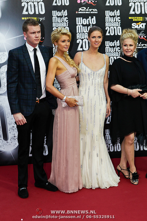 MON/Monte Carlo/20100512 - World Music Awards 2010, Barron Nicholas Hilton, Paris Hilton, Nicky Hilton, Kathy Hilton