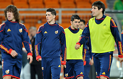 10.07.2010, Soccer City Stadium, Johannesburg, RSA, FIFA WM 2010, Training Spanien im Bild Carles Puyol, Fernando Torres e David Villa, EXPA Pictures © 2010, PhotoCredit: EXPA/ InsideFoto/ Perottino *** ATTENTION *** FOR AUSTRIA AND SLOVENIA USE ONLY! / SPORTIDA PHOTO AGENCY