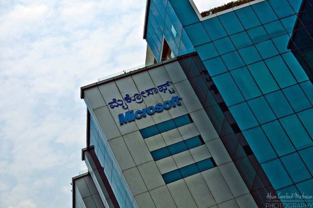 One of the many multi-national companies in Bangalore India, Microsoft has set up a huge campus in the Diamond District.