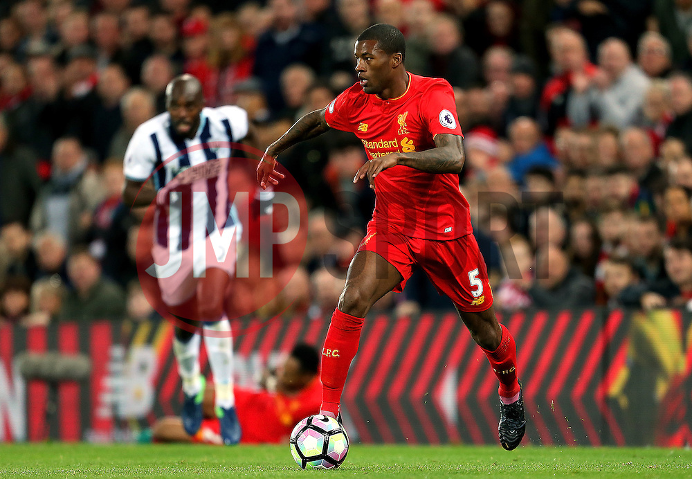 Georginio Wijnaldum of Liverpool attacks - Mandatory by-line: Matt McNulty/JMP - 22/10/2016 - FOOTBALL - Anfield - Liverpool, England - Liverpool v West Bromwich Albion - Premier League