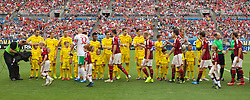 CHARLOTTE, USA - Saturday, August 2, 2014: Liverpool and AC Milan players before the International Champions Cup Group B match at the Bank of America Stadium on day thirteen of the club's USA Tour. (Pic by Mark Davison/Propaganda)