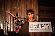 Carol Schneider, President of Mercy Hospital & Medical Center, at the Mercy Hospital & Medical Center's 51st Dinner Dance Gala at the Hilton Chicago on September 28, 2018. Dr. Robert M. Gasior and Honorable Patrick Huels were honored at the event, emceed by Kristen Nicole, anchor at Fox 32 Chicago. Proceeds will benefit Cardiovascular Services including screening, intervention, rehabilitation, wellness and prevention programs for patients and families. (Photo:Natalie Battaglia)
