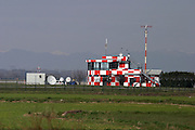 Italy, Milan, Linate Airport, flight control tower