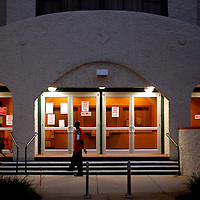 ST. PETERSBURG, FL -- November 2, 2010 -- Voters were slow to cast their ballots at the Coliseum in downtown St. Petersburg, Fla., early on the Mid-Term Election Day on Tuesday, November 2, 2010.  Two heated races in Florida end today for a Senate seat between Republican Marco Rubio, Democrat Kendrick Meek, and Independent Gov. Charlie Crist and the position of Governor between Republican Rick Scott and Democrat Alex Sink.