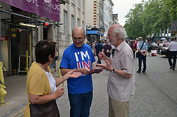 Britain Stronger in Europe campaigning in Norwich June 2016, prior to referendum on British membership of the EU