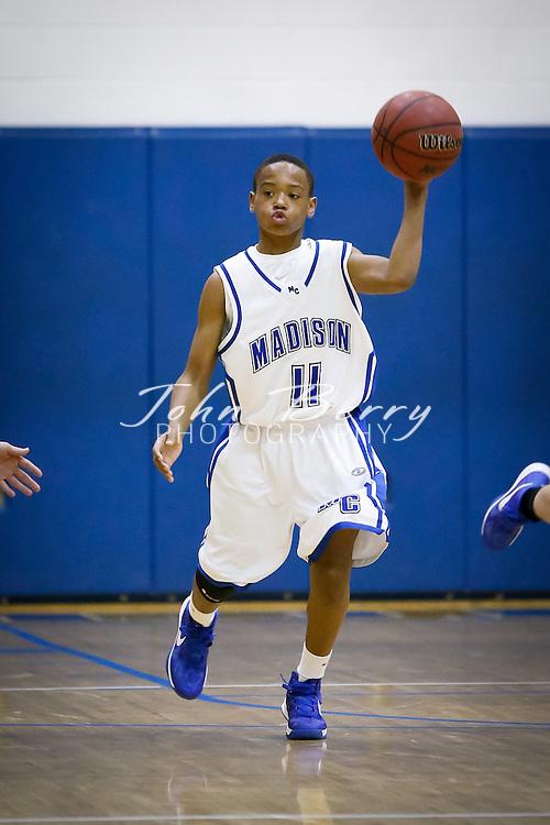 December/13/12:  MCHS JV Boys Basketball vs Central Woodstock.  Madison wins 49-39.