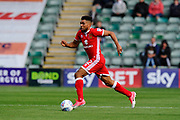 Scott Golbourne (12) of Milton Keynes on the attack during the EFL Sky Bet League 1 match between Plymouth Argyle and Milton Keynes Dons at Home Park, Plymouth, England on 9 September 2017. Photo by Graham Hunt.