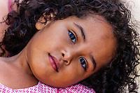 Kanak (Melanesian) girl, Island of Ouvea, Loyalty Islands, New Caledonia