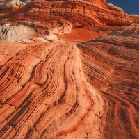Striped sandstone in the White Pocket of northern Arizona.
