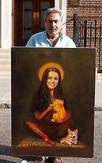 JULY 14 2013 Duchess of Cambridge painting