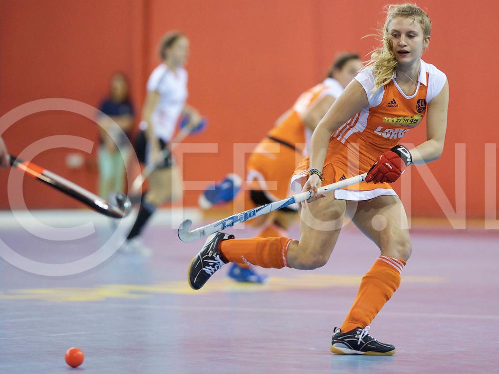 Prague - EuroHockey Indoor Championship (W) 2014<br /> 07 NED v GER (Pool B)<br /> foto: Laurien Leurink.<br /> FFU PRESS AGENCY COPYRIGHT FRANK UIJLENBROEK