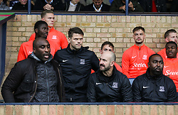 New management team at Southend Sol Campbell, Hermann Hreidarsson, Tony Colbert and Andrew Cole - Mandatory by-line: Arron Gent/JMP - 27/10/2019 - FOOTBALL - Roots Hall - Southend-on-Sea, England - Southend United v Ipswich Town - Sky Bet League One