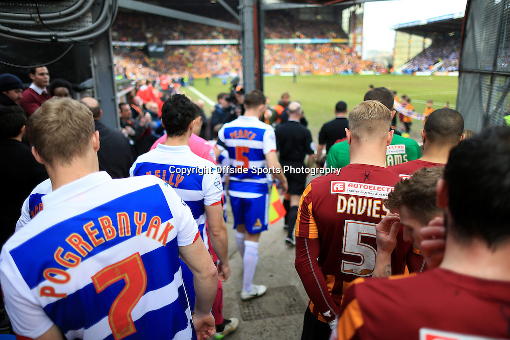 7th March 2015 - FA Cup - Quarter-Final - Bradford City v Reading - The players gather in the tunnel before they walk out onto the pitch - Photo: Simon Stacpoole / Offside.