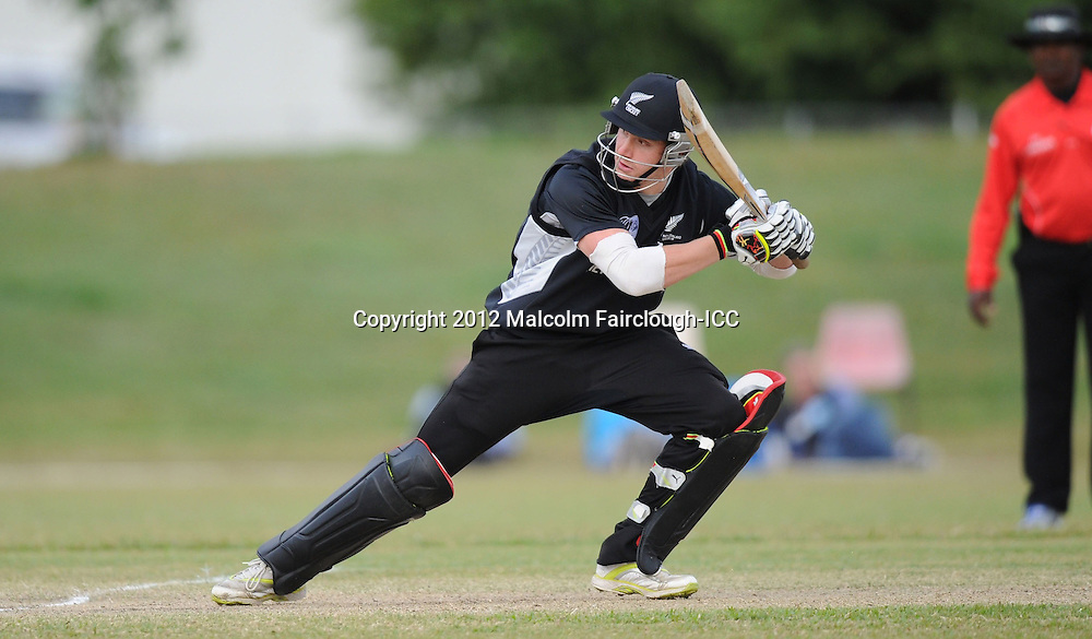 TOWNSVILLE, AUSTRALIA - AUGUST 20:  Connor Neynens bats during the ICC U19 Cricket World Cup 2012 Quarter Final match between New Zealand and the West Indies at Endeavour Park on August 20, 2012 in Townsville, Australia.  (Photo by Malcolm Fairclough-ICC/Getty Images)
