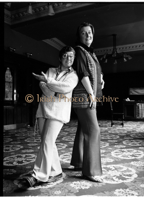 Maureen Potter & Marie Conmee, Gaiety Theatre Dublin, Ireland.  Old Pictures of Maureen Potter  and Marie Conmee Irish singer, actor, comedian and performer  in Dublin Ireland, Maureen Potter  and Marie Conmee Irish singer, actor, comedian and performer. in Dublin Ireland. Old Pictures of Maureen Potter  and Marie Conmee Irish singer, actor, comedian and performer in Dublin Ireland.<br />