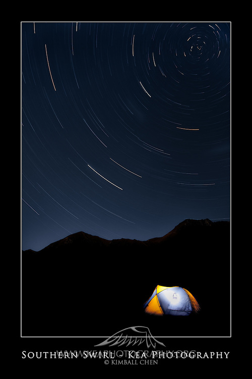 12x18-inch poster print of the stars rotating around the South Celestial Pole