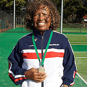 Roz King, USA, Semi Finalist, 70 Womens Singles competition during the 2009 ITF Super-Seniors World Team and Individual Championships at Perth, Western Australia, between 2-15th November, 2009
