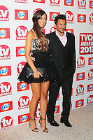 Emily MacDonagh; Peter Andre, TV Choice Awards, The Dorchester Hotel, London UK, 09 September 2013, Photo by Richard Goldschmidt