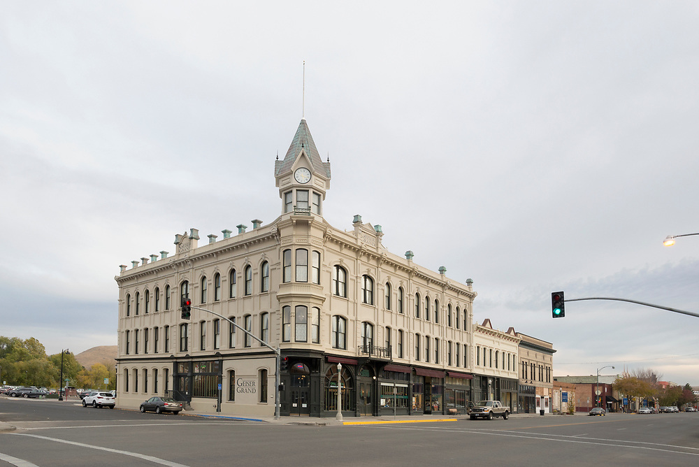 The historic Geiser Grand Hotel in downtown Baker City, Oregon.