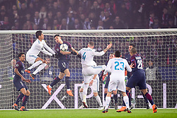 March 6, 2018 - Paris, U.S. - BERCHICHE Yuri (PSG) vs Raphael Varane (Real Madrid)  during the Champions League match Real Madrid at Paris Saint-Germain on March 6, 2018 in Paris, France. (Photo by JB Autissier/Panoramic/Icon Sportswire) ****NO AGENTS---NORTH AND SOUTH AMERICA SALES ONLY****NO AGENTS---NORTH AND SOUTH AMERICA SALES ONLY* (Credit Image: © Jb Autissier/Icon SMI via ZUMA Press)