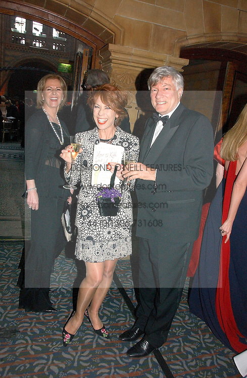 Left to right, PRINCESS ANNI-FRID REUS VON PLAUEN she was Frida from pop group ABBA, writer KATHY LETTE and her husband GEOFFREY ROBERTSON QC at a gala dinner in the presence of HM Quenn Silvia of Sweden and HM Queen Noor of Jordan in aid of the charity Mentor held at the Natural History Museum, Cromwell Road, London on 23rd May 2006.<br />